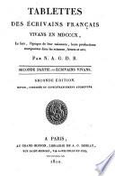 Tablettes biographiques des   crivains fran  ais morts et vivants