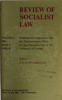 Review of Socialist Law
