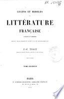 Leçons et modèles de littérature française, ancienne et moderne