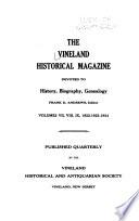 The Vineland Historical Magazine