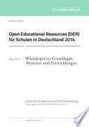 Open Educational Resources (OER) für Schulen in Deutschland 2014