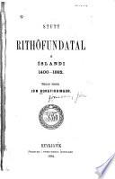 Stutt rithöfundatal á Íslandi 1400-1882