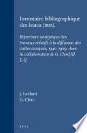 Inventaire bibliographique des Isiaca (IBIS)