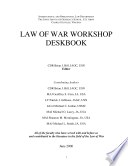 Law Of War Workshop Deskbook