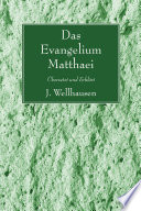 Das Evangelium Matthaei