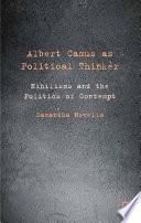 Albert Camus as Political Thinker