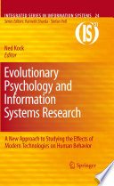 Evolutionary Psychology And Information Systems Research : researchers from all over the world. those researchers'...