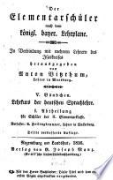 Deutsche Sprachlehre nach der geistbildenden Methode