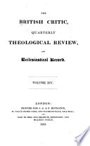 The British Critic, Quarterly Theological Review, and Ecclesiastical Record