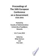 ECEG2016 Proceedings of 16th European Conference on e Government ECEG 2016