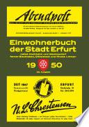 Einwohnerbuch | Adressbuch STADT ERFURT 1950 mit Hochheim, Melchendorf, Bischleben, Dittelstedt, Rhoda und Steiger