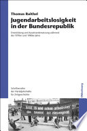 Jugendarbeitslosigkeit in der Bundesrepublik