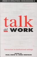 Talk at Work