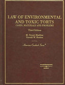 Law of Environmental and Toxic Torts