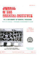 Journal Of The Oriental Institute : ...
