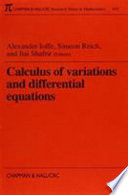 Calculus of Variations and Optimal Control Differential Equations Set