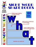 Sight Word Shape Books