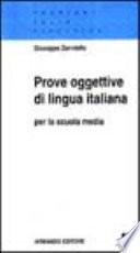 Prove oggettive di lingua italiana per la scuola media