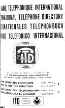 Annuaire T L Phonique International