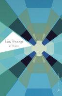 Basic Writings of Kant