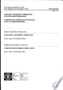 Rapport de la Première Session Du Comité Scientifique Consultatif