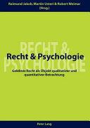 Recht und Psychologie