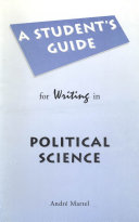 Student's Guide for Writing in Political Science