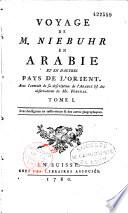 Voyage en Arabie & en d'autres Pays circonvoisins