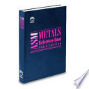 ASM Metals Reference Book  3rd Edition