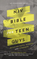 NIV Bible for Teen Guys  Hardcover