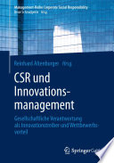 CSR und Innovationsmanagement