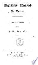Allgemeines Adressbuch für Berlin