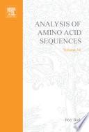 Analysis Of Amino Acid Sequences book