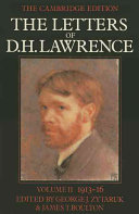 The Letters of D. H. Lawrence: Volume 2, June 1913-October 1916