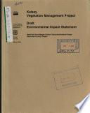 Deschutes National Forest  N F    Kelsey Vegetation Management Project