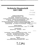 Berlinische Monatsschrift
