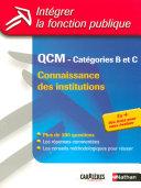 QCM Connaissances des institutions   Cat  gories B et C