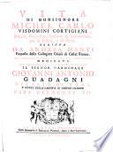 Vita di Monsignore Michel Carlo Visdomini Cortigiani, Patrizio Fiorentino, Vescovo di Samminiato