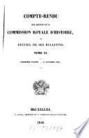 Compte rendu des s  ances de la Commission Royale d Histoire ou recueil de ses bulletins