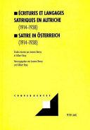 critures et langages satiriques en Autriche