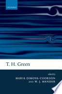 Ebook T. H. Green: Ethics, Metaphysics, and Political Philosophy Epub Maria Dimova-Cookson,William J. Mander Apps Read Mobile