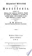Allgemeines Wörterbuch der Artillerie