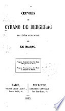 illustration du livre Oeuvres de Cyrano de Bergerac
