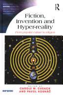 Fiction New Religions and Hyper Reality Inventing Religion and Popular Culture