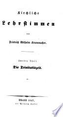 Kirchliche Lehrstimmen. Zweite Auflage