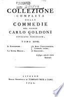 Collezione completa delle commedie del signor Carlo Goldoni