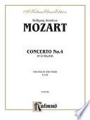 Violin Concerto No. 4, K. 218 Amadeus Mozart From The Kalmus Edition