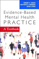 Evidence based Mental Health Practice