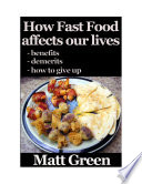 download ebook how fast food affect our life - and what we can do about it - healthy series pdf epub