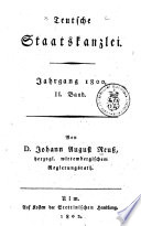 Teutsche staatskanzley von d. Johann August Reuss ...